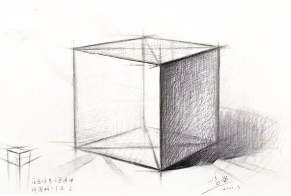 石膏正方体的画法