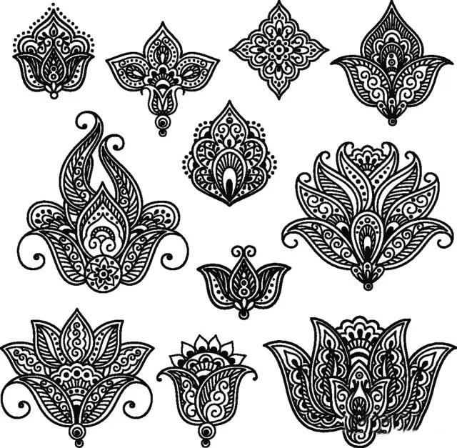 【干货】能拿高分的黑白装饰画纹样素材